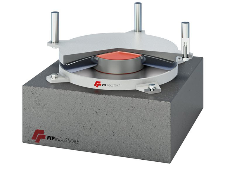 Isolatore sismico a scorrimento o friction pendulum